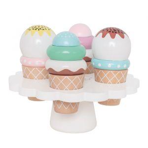 Houten ijsjes op etagere (4st) JaBaDaBaDo