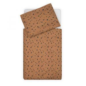 Beddengoed Spot caramel 100x140cm Jollein