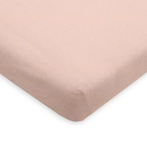 Hoeslaken ledikant jersey pale pink Jollein