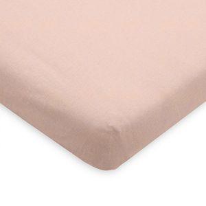 Hoeslaken wieg jersey pale pink Jollein