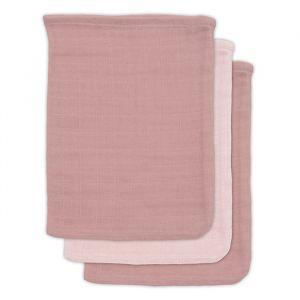 Washandjes bamboe pale pink (3st) Jollein