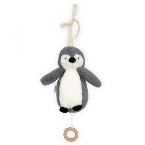 Muziekmobiel Pinguin storm grey Jollein