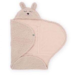 Wikkeldeken Bunny pale pink Jollein