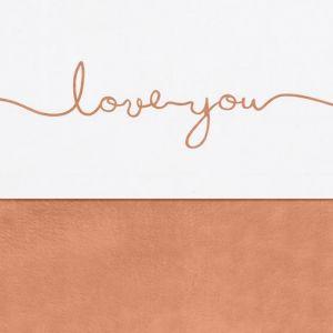 Wieglaken Love You caramel Jollein
