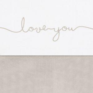 Wieglaken Love You nougat Jollein