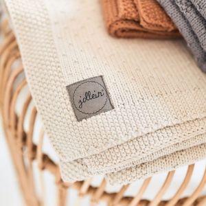 Ledikantdeken Bliss knit nougat Jollein