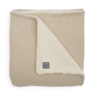 Ledikantdeken Teddy Bliss knit nougat Jollein