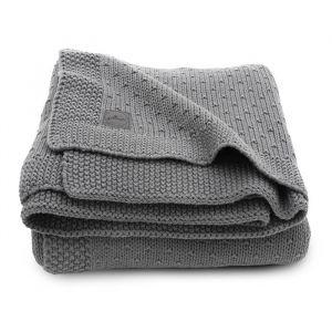 Ledikantdeken Bliss knit storm grey Jollein