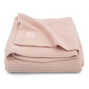 Ledikantdeken Basic Knit pale pink Jollein