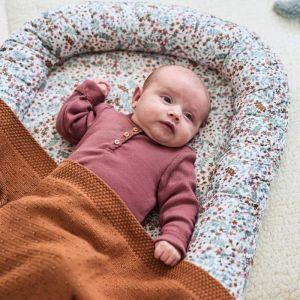 Wiegdeken Bliss knit caramel Jollein