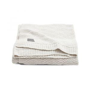 Wiegdeken River Knit cream white Jollein