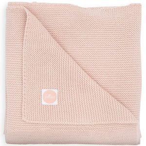 Wiegdeken Basic Knit pale pink Jollein