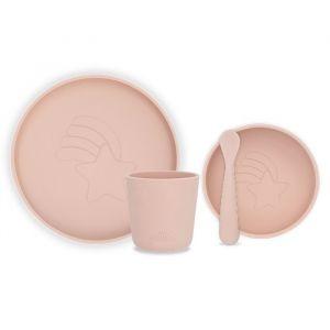 Siliconen serviesset pale pink Jollein