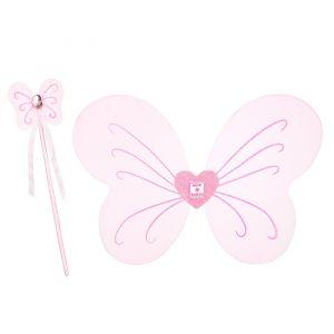 Vleugels en toverstaf Caroli roze Souza