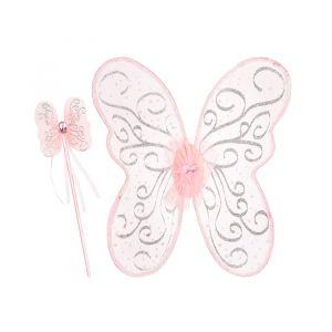 Vleugels met toverstaf Sophia roze Souza