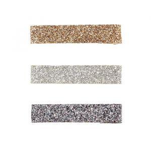 Haarclipjes Ronelle glitter goud-zilver (3st) Souza