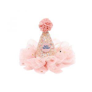 Verjaardagshoedje happy birthday roze Souza