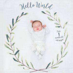 Baby milestone pakket Hello World krans Lulujo