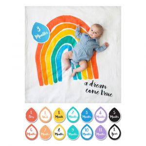 Baby milestone pakket Regenboog Lulujo