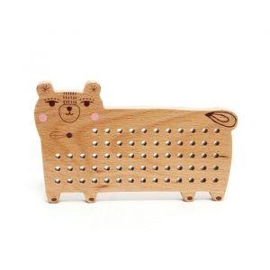 Houten beer borduurset Petit Monkey