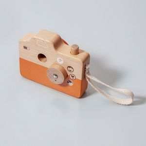 Houten camera oranje Petit Monkey