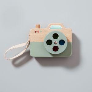 Houten camera blauw Petit Monkey