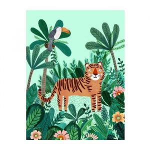 Poster tijger jungle 50x70 Petit Monkey