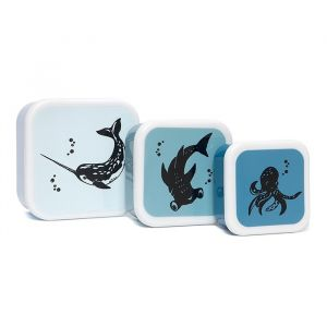 Lunchbox set sea animals (3st) Petit Monkey