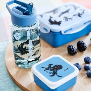 Lunchbox Sea Animals denim Petit Monkey