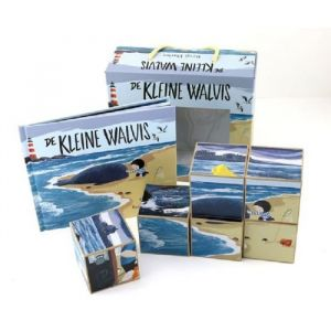 Prentenboek Kleine walvis met blokkenpuzzel