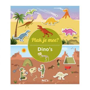 Stickerboek Plak je mee? Dino's
