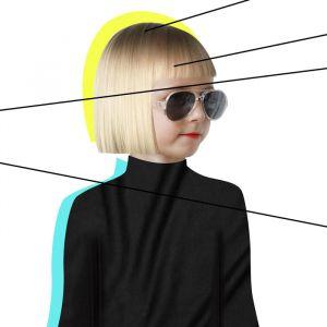 Kinderzonnebril Aviator Golds transparant (3-6j) Hipsterkid