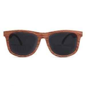 Kinderzonnebril Wayfarer Golds hout (0-2j) Hipsterkid