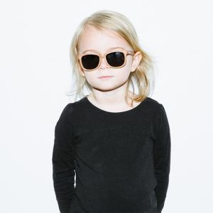 Kinderzonnebril Wayfarer Golds hout (3-6j) Hipsterkid