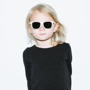 Kinderzonnebril Wayfarer wit (3-6j) Hipsterkid