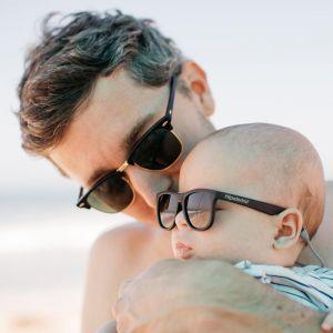 Baby zonnebril Wayfarer zwart (0-2j) Hipsterkid