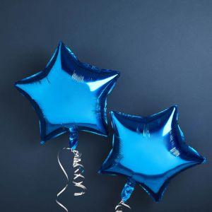 Folie ballonnen Ster Blauw (2st) Hootyballoo