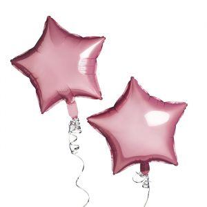 Folie ballonen Ster Roze (2st) Hootyballoo