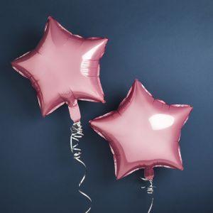 Folie ballonnen Ster Roze (2st) Hootyballoo