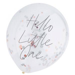 Confetti Ballonnen Hello Little One (5st) Hootyballoo