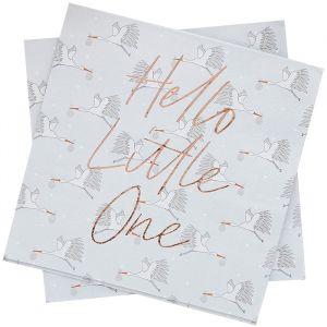 Servetten Hello Little One (20st) Hootyballoo