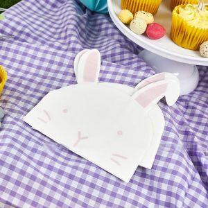 Servetten konijnen Happy Easter (20st) Hootyballoo