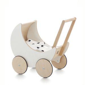 Houten poppenwagen wit Ooh Noo
