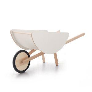 houten kruiwagen wit ooh noo
