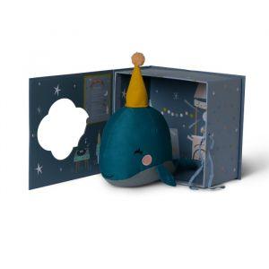 Knuffel Walvis in geschenkdoos (21cm) Picca LouLou