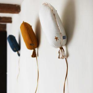 Muurdecoratie ballon petrol linnen (40cm) Picca LouLou