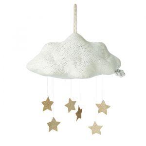 Mobiel wolk met sterren wit (34cm) Picca LouLou