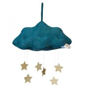 Mobiel wolk met sterren blauw Picca LouLou