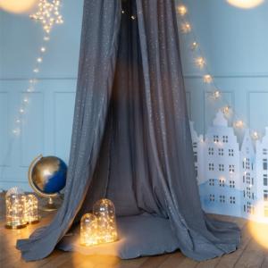 Speelkleed velvet donkerblauw Wigiwama