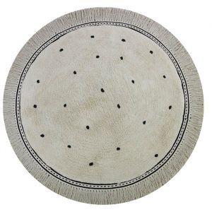 Vloerkleed Anna Dots cream rond (110cm) Tapis Petit
